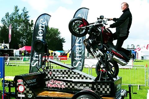 Symulator wheelie machine